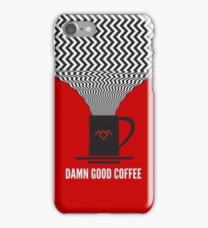 Twin Peaks - Damn Good Coffee iPhone Case/Skin