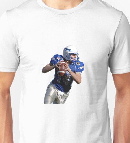 American Footballer White background Unisex T-Shirt