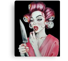 Killer Housewife Canvas Print