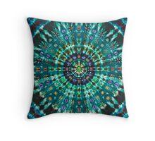 Tie-Dye Turquoise Throw Pillow
