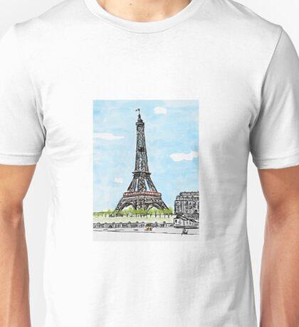 Eiffel Tower in Spring Unisex T-Shirt