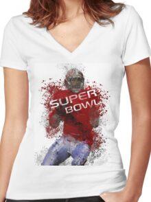 Super Bowl Art 1 Women's Fitted V-Neck T-Shirt