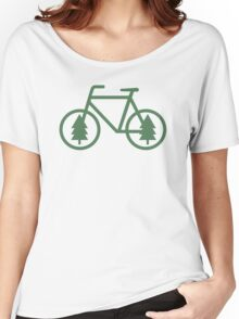 Pacific Northwest Bike - Pine Tree Bicycle - Cycling Women's Relaxed Fit T-Shirt