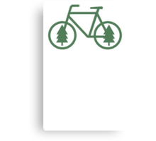 Pacific Northwest Bike - Pine Tree Bicycle - Cycling Canvas Print