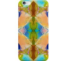 Blue Green Abstract Algea Patterned Artwork iPhone Case/Skin