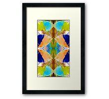 Blue Green Abstract Algea Patterned Artwork Framed Print