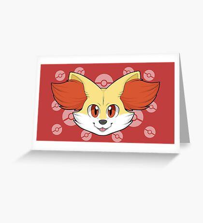 Fennekin Greeting Card