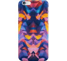 Abstract Surreal Chaos theory in Modern Blue / Orange iPhone Case/Skin