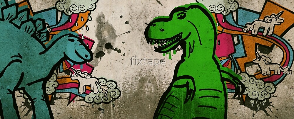 Steggie and Rex by fixtape