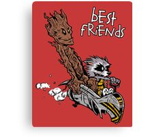 Raccoon and Tree Canvas Print