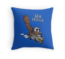 Raccoon and Tree Throw Pillow