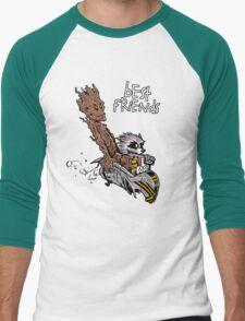 Raccoon and Tree Men's Baseball ¾ T-Shirt