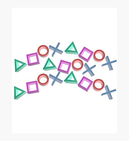 PS4 Controller Buttons Photographic Print