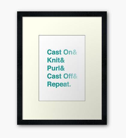 Knitting Addict - Yarn Hoarders & Needlecrafters Unite! Framed Print