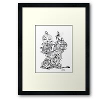 wake up sleepy heads Framed Print