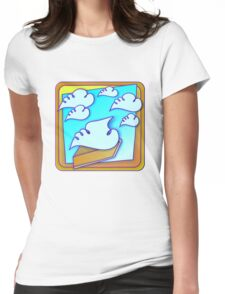 Pie in the Sky Womens Fitted T-Shirt
