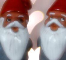 Valentine Tomte - Gnome Couple Sticker