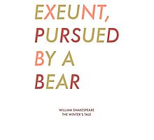 Exeunt Pursued By A Bear - Shakespeare Photographic Print