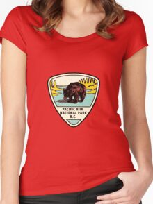 Pacific Rim National Park BC Canada Vintage Travel Decal Women's Fitted Scoop T-Shirt
