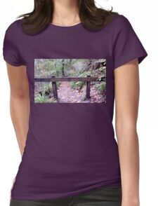 British Woodland in Autumn - Path Closed For Safety Reasons Womens Fitted T-Shirt