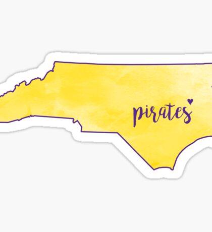 East Carolina Pirates Sticker