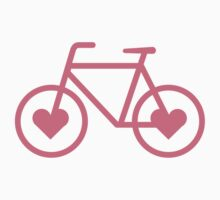 Pink Bicycle Love - Fixie Hearts by CorrieJacobs
