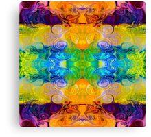 Rainbow Revolution Abstract Pattern Artwork Canvas Print