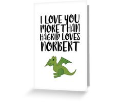 More Than Hagrid Love Norbert Greeting Card