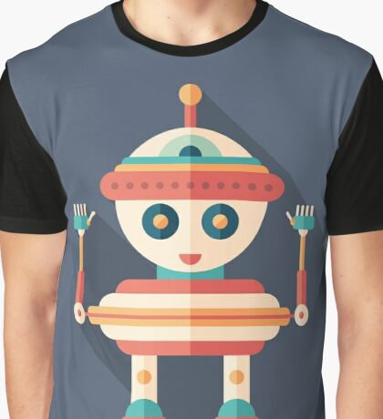 Robot Top Toy Graphic T-Shirt