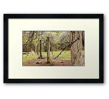 Worn Fence Posts - Hill End Framed Print