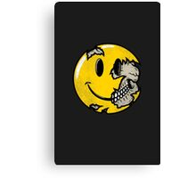 Smiley face skull Canvas Print