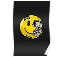 Smiley face skull Poster
