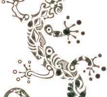 Tribal Gecko by papabuju