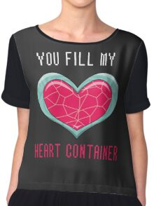 You Fill My Heart Container Chiffon Top