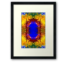 Wisdom Of The Ages Abstract Patterned Artwork  Framed Print