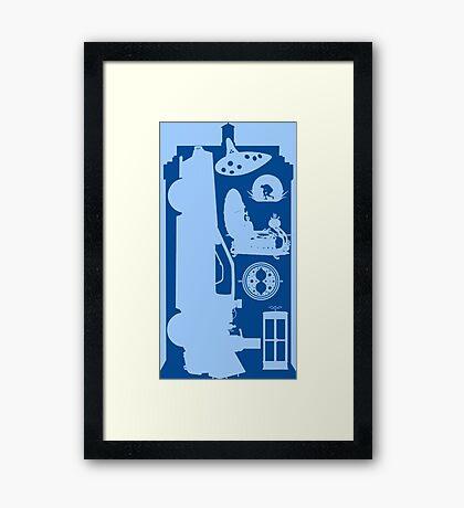 Time Framed Print