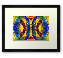 Mysterious Dimensions Abstract Pattern Artwork Framed Print