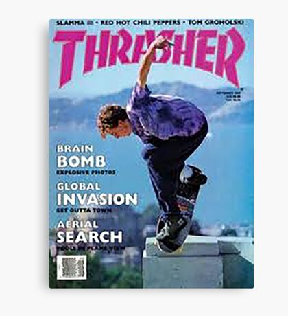 Thrasher Old School Magazine Cover 1 Canvas Print