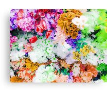 drawing and painting colorful flowers background Canvas Print