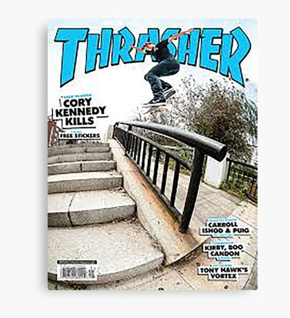 Old School Trasher Magazine Cover 2 Canvas Print