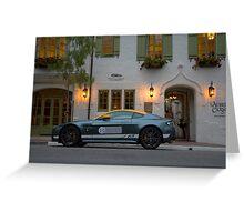 Aston Martin Vantage GT Greeting Card
