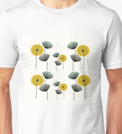 Mid Century Dandelions Unisex T-Shirt