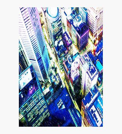 Cyberpunk City - It's raining Photographic Print