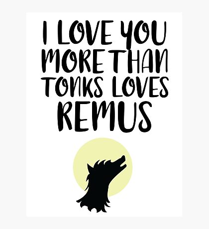 More Than Tonks Loves Remus Photographic Print