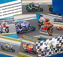 Australian MotoGP 2014 winners collection Rossi Lorenzo Smith Marq Marquez by Gary Blackman