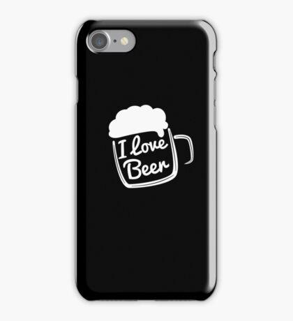 Funny I Love Beer  iPhone Case/Skin