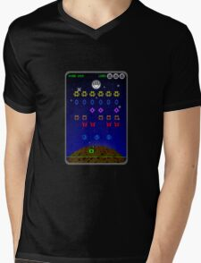 SPACE SECTOR INVADERS Mens V-Neck T-Shirt