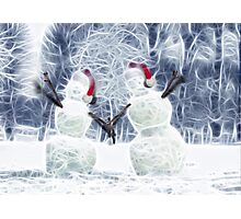 Reaching out to wish you Happy Holidays! Photographic Print