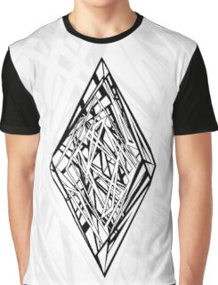 Zen Doodle Diamond Black Ink Graphic T-Shirt