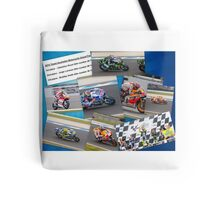Australian MotoGP 2014 winners collection Rossi Lorenzo Smith Marq Marquez Tote Bag